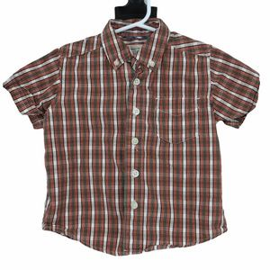 Kids plaid button down tee shirt boys 24 months